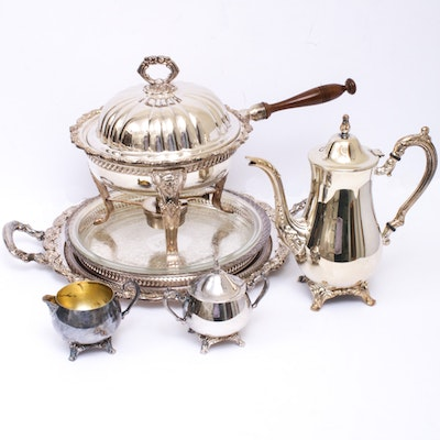 Silver Plate Serveware Including Wm Rogers, Oneida and More