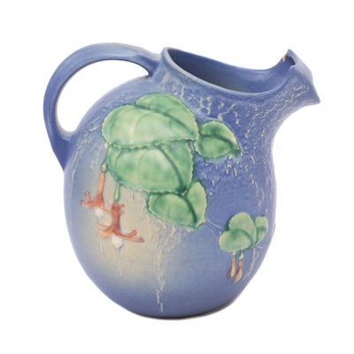 "Roseville Pottery ""Fuchsia"" Pitcher, 1940s"