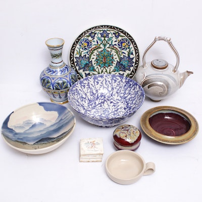 Signed Art Pottery from Italy, Spain and More