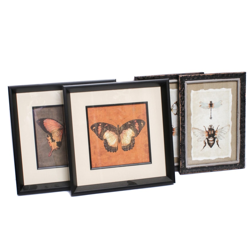 Butterflies and Dragonflies Offset Lithographs