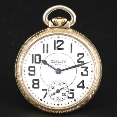 Waltham 10K Gold Filled Railroad Grade Pocket Watch, 1942