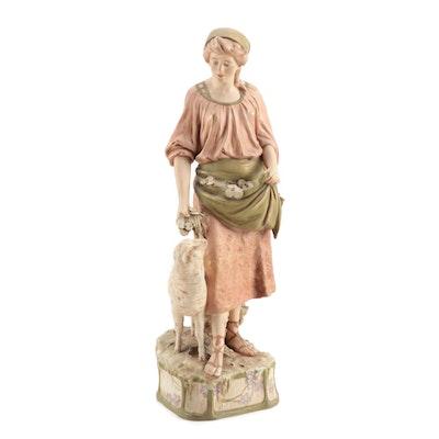 Royal Dux of Bohemia Porcelain Figurine, Late 19th/Early 20th Century