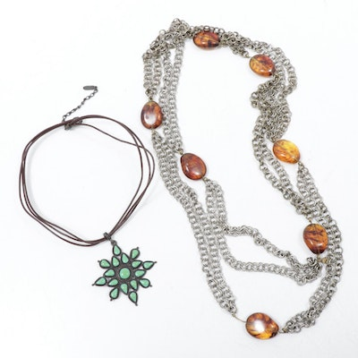 Heidi Daus for Jim Walters and Ben-Amun Necklaces