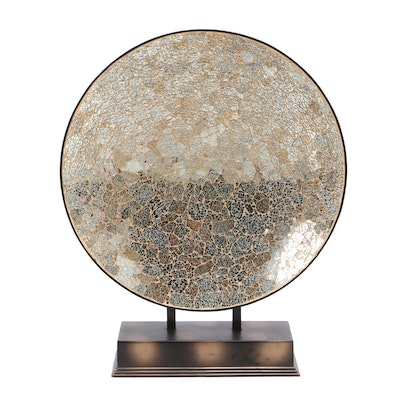 Mosaic Glass Decorative Charger on Stand