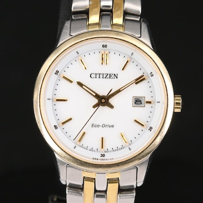 Citizen Eco-Drive Two Tone Stainless Steel Wristwatch