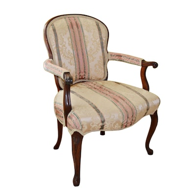 French Provincial Style Fauteuil Armchair, Early to Mid 20th Century
