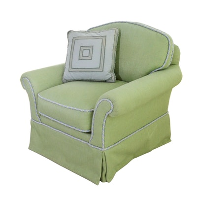 Custom-Upholstered Club Chair, Contemporary