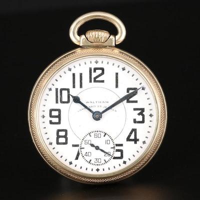 Waltham Railroad Grade Gold Filled Pocket Watch, 1944