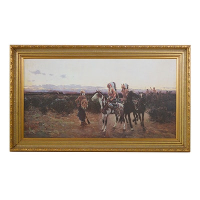 """Offset Lithograph After Henry François Farny """"The White Man's Trail"""""""
