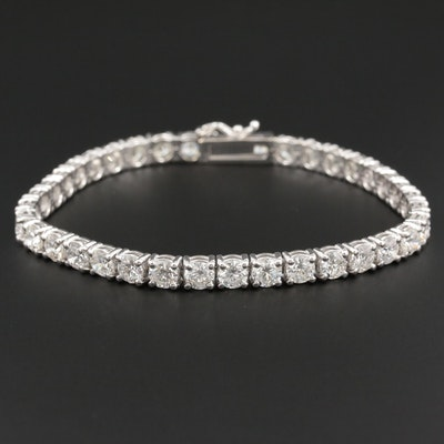 14K White Gold 11.05 CTW Diamond Line Bracelet