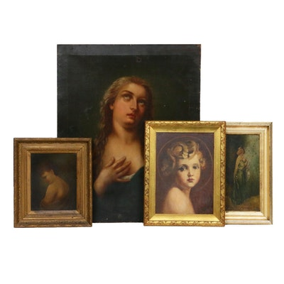Figural Oil Paintings, Late 19th/Early 20th Century