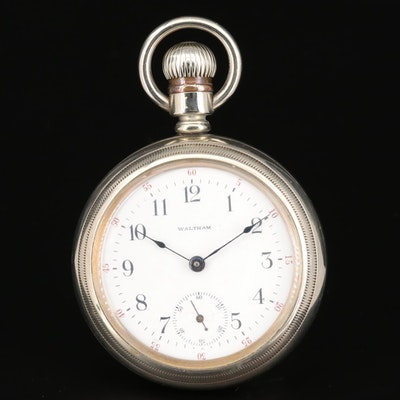 Antique Waltham Open Face Pocket Watch, 1908