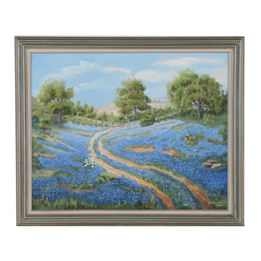 Evelyn P. Waller Oil Landscape Painting