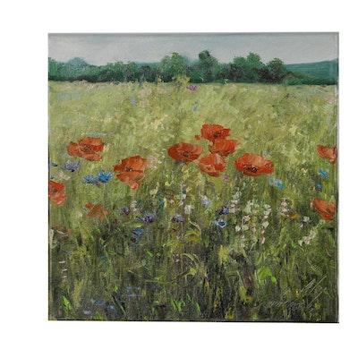 """Garncarek Aleksander Oil Painting """"W zbożu"""", 2019"""