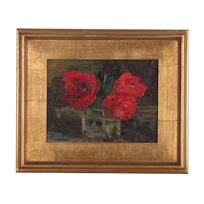 "James Baldoumas Oil Painting ""Poppies"", 2019"