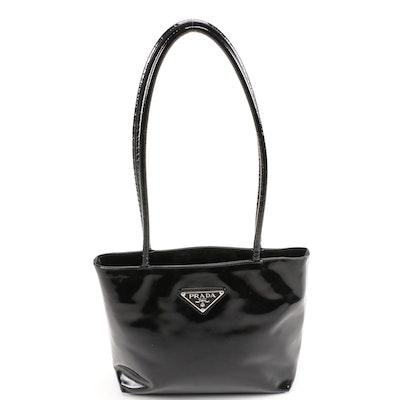 Vintage Prada Black Patent Leather Shoulder Bag