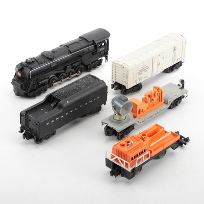 Lionel O Gauge 671 Pennsylvania RR Steam Locomotive and Tender with Other Cars