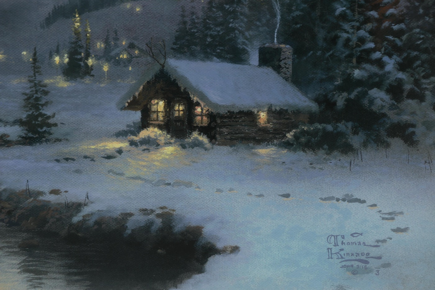 Commemorative Offset Lithograph After Thomas Kinkade