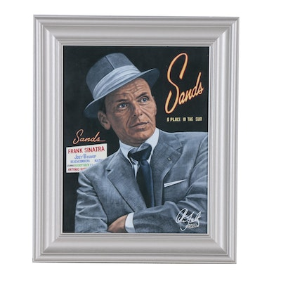Chris Felix Offset Lithograph of Frank Sinatra