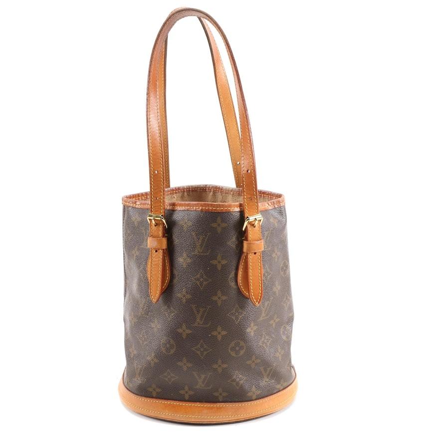 Louis Vuitton Petit Bucket Bag in Monogram Canvas and Vachetta Leather