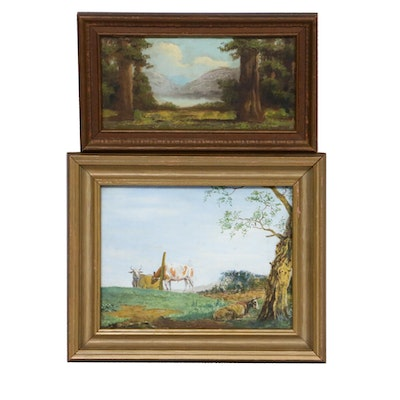 Landscape Oil Paintings, Early to Mid 20th Century