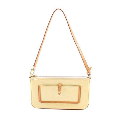 Louis Vuitton Mallory Square Pochette in Citrine Vernis and Vachetta Leather
