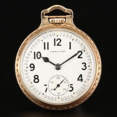 10K Gold Filled Hamilton Pocket Watch, 1949