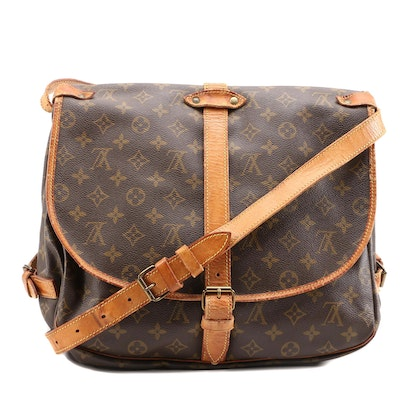 Louis Vuitton Saumur 35 Double-Sided Crossbody in Monogram Canvas and Leather