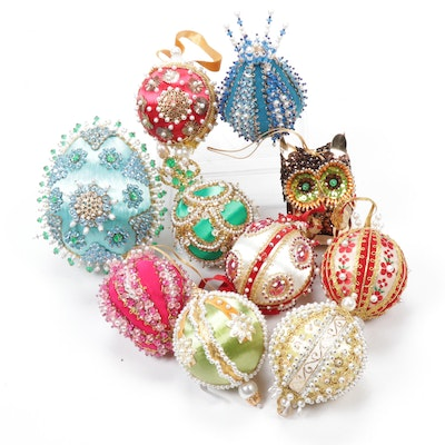 Handmade Victorian-Style Beaded Ornaments
