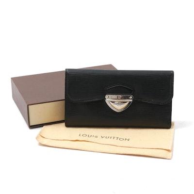 Louis Vuitton Black Epi Leather Eugenie Wallet