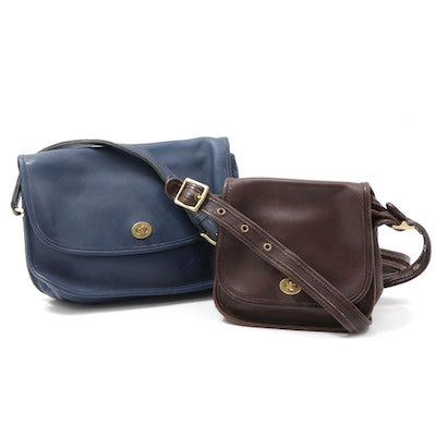 Coach Trail Saddle and Classic City Front Flap Leather Crossbody Bags