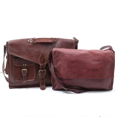 Stuart Kern Leather Messenger Bag and Other Leather Briefcase