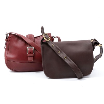 Coach Patricia's Legacy and Hampton Flap Leather Crossbody and Shoulder Bags