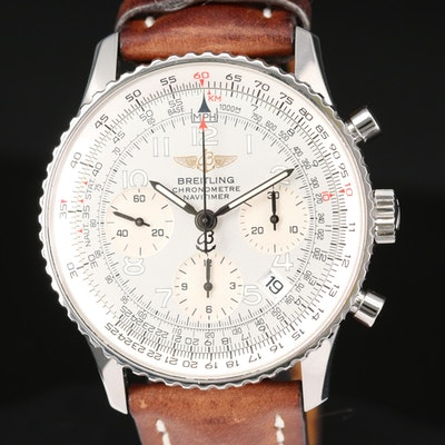 Breitling Navitimer Stainless Steel Automatic Chronograph Wristwatch
