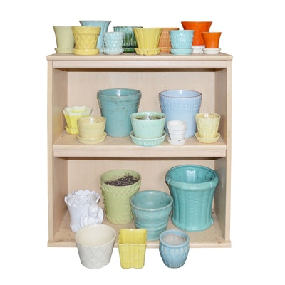 McCoy Pottery and Ceramic Pot Assortment, Vintage