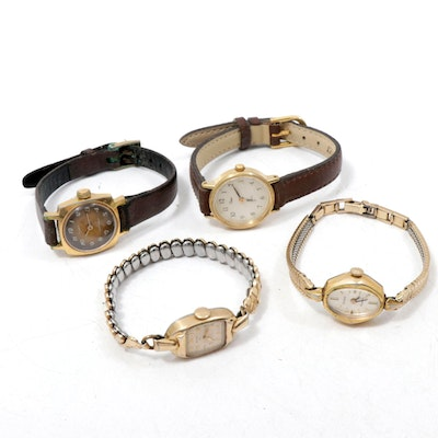Vintage Gold Filled Lady Elgin, Zodiac and Timex Wristwatches