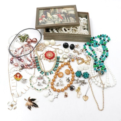 Assorted Jewelry Featuring Kramer, Trifari and Regency Jewels