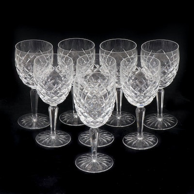 """Waterford Crystal """"Comeragh"""" White Wine Glasses, Mid/Late 20th Century"""