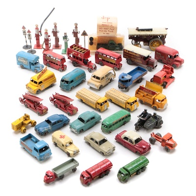 Lesney Diecast Matchbox Cars and Trucks with Others, Mid-20th Century
