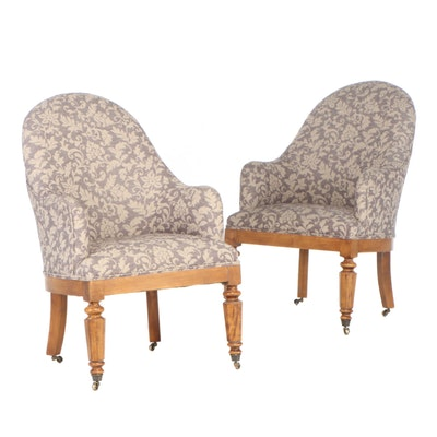 Pair of Classical Style Arm Chairs, Late 20th Century