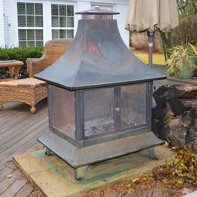 Wood Burning Pagoda Patio Fire Pit
