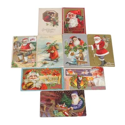 Christmas Post Cards, Early to Mid 20th Century