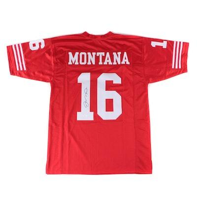 Joe Montana Signed San Francisco 49ers Replica Jersey  COA