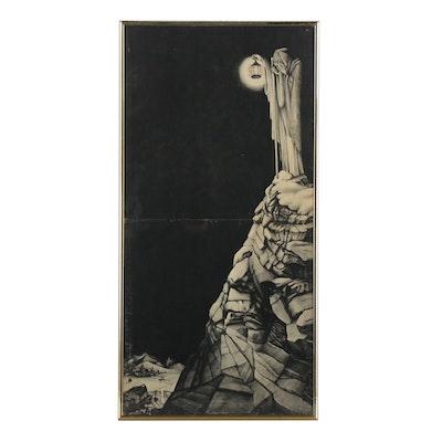"""Inner Sleeve Artwork of Led Zeppelin IV """"The Hermit"""""""