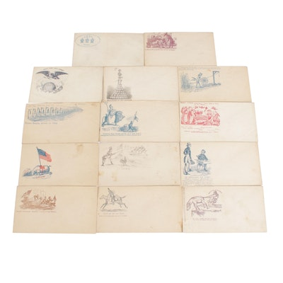 United States Patriotic Postal Covers, Mid 19th Century