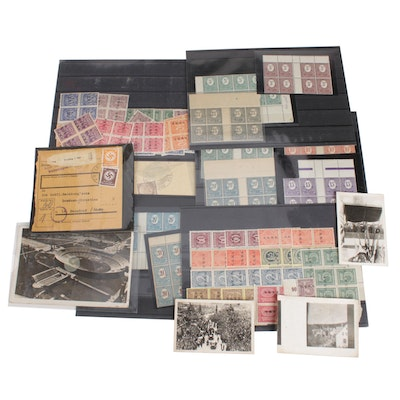 German Stamps, Postcards, and Olympic Photographs, Early to Mid 20th Century