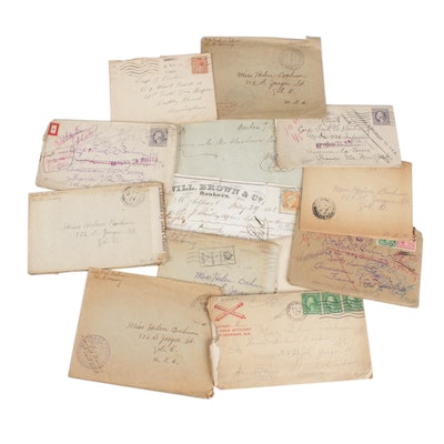 United States Postal Cover Collection Featuring World War I Group