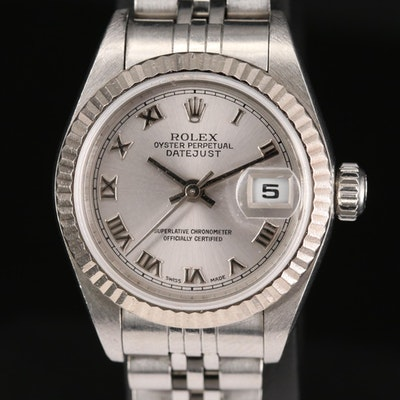 Rolex Datejust 79174 Stainless Steel and 18K White Gold Wristwatch, 1999
