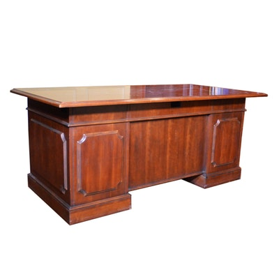 Hooker Furniture Distressed Finish Executive Desk, Contemporary