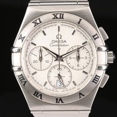 Omega Constellation Stainless Steel Chronograph Wristwatch